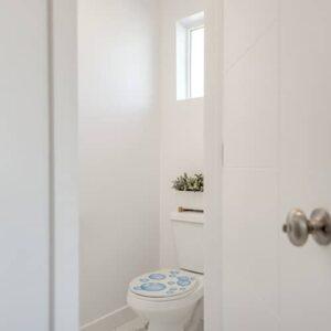 Sticker bulles de savon bleu pour abattant de toilette