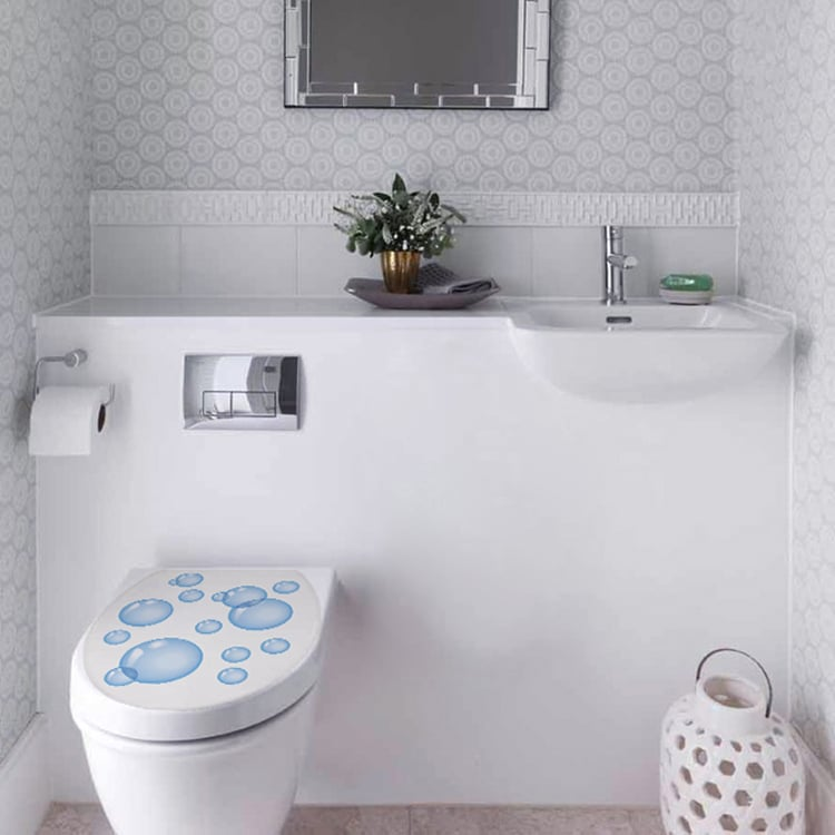 Sticker autocollant Bulles de Savon pour décoration toilettes