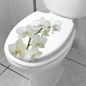 Sticker orchidée pour abattant de WC