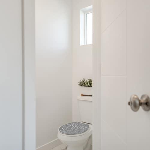Sticker argot gris et blanc pour abattant de toilette