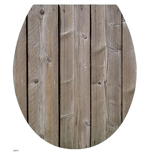 Sticker planche de bois moderne pour abattant de toilette