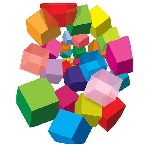 Stickers Cubes pop 3D pour WC !