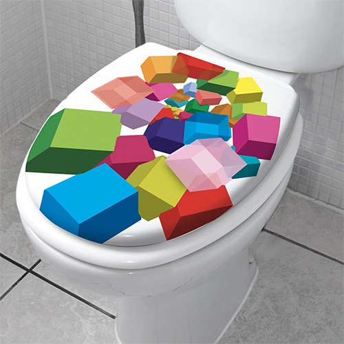 Stickers autocollants Cubes pop 3D