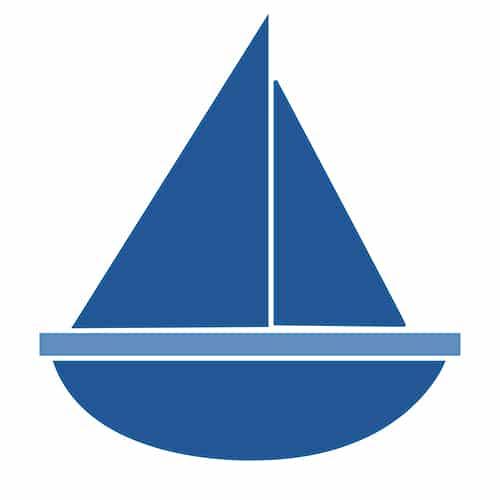 Sticker autocollant bateau bleu pour carrelage Bateau bleu !