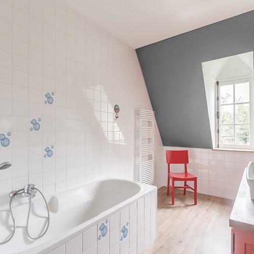 Sticker pour carrelage imitation Bulles de Savon salle de bain
