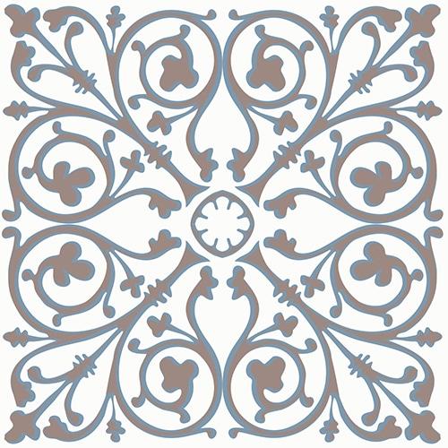 Sticker imitation Carrelage Carreaux de Ciment Grège
