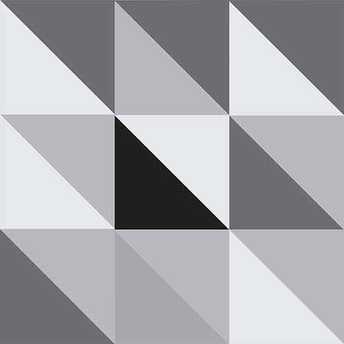 Sticker imitation Carrelage Scandinave Noir et Blanc
