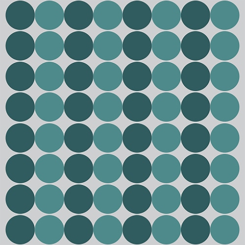 Sticker imitation Carrelage Pois bleu