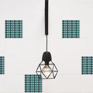 Sticker effet Carrelage Pois lampe design