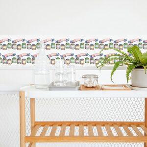 Sticker imitation Carrelage Tea Time cuisine