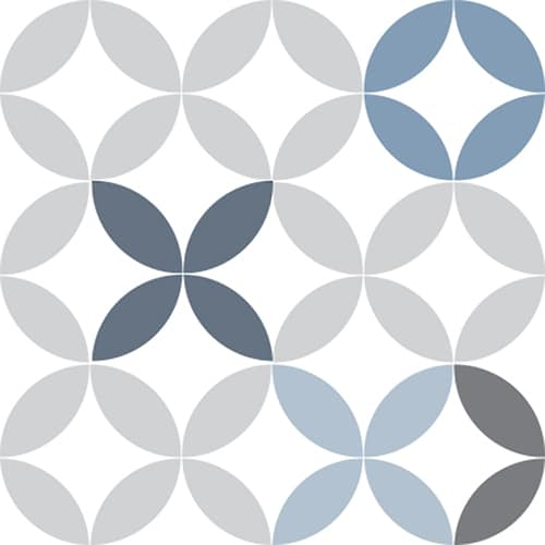 Sticker décoratif Carrelage Céramique Bleue
