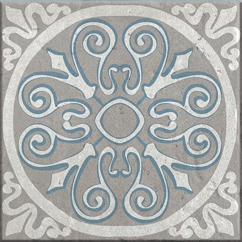 Sticker imitation Carrelage Baixa gris et bleu