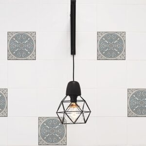 Sticker imitation Carrelage Baixa lampe design