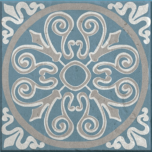 Sticker imitation Carrelage Elvas bleu