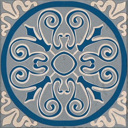 Sticker imitation Carrelage Açores bleu