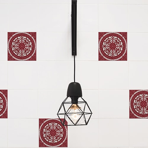 Sticker imitation Carrelage Olhao lampe design