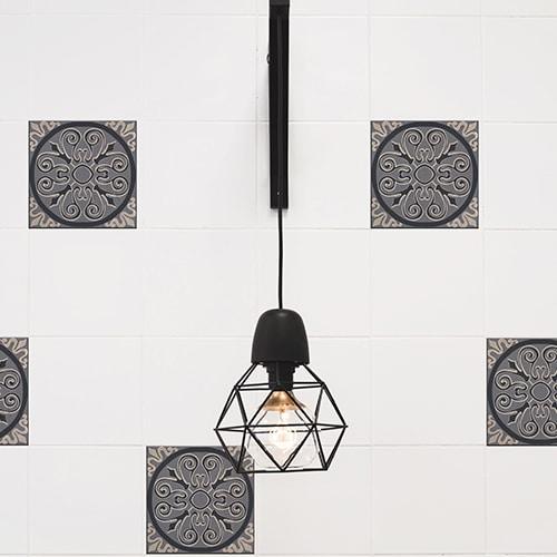 Sticker imitation Carrelage Brescia lampe design