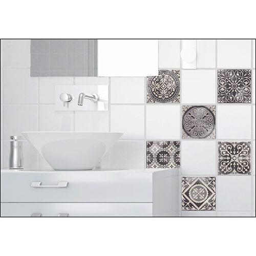 Sticker effet Carrelage Antico Brescia salle de bain