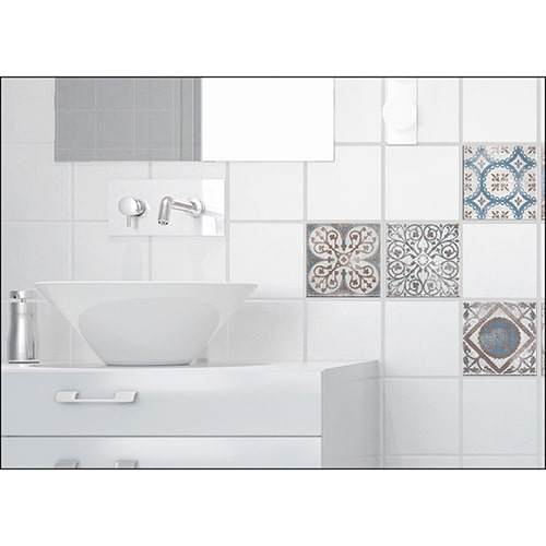 Sticker imitation Carrelage Antico Baixa dans une salle de bain