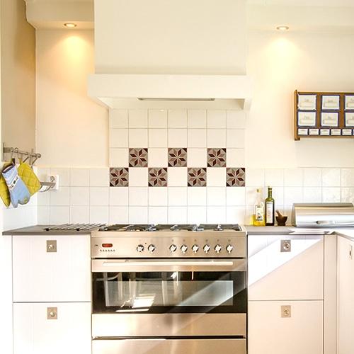 Sticker effet Carrelage Calisese dans une cuisine