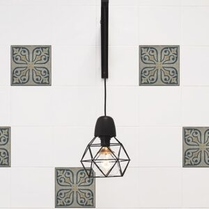 Sticker imitation Carrelage Ciola avec lampe design