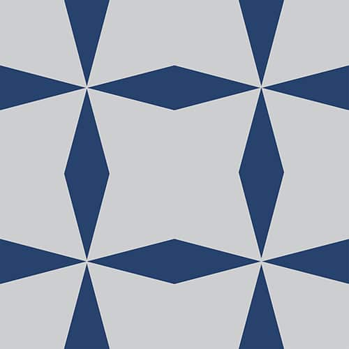 Sticker effet Carrelage Bronzolo bleu