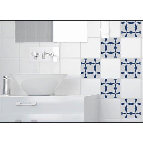 Sticker effet Carrelage Bronzolo dans une salle de bain