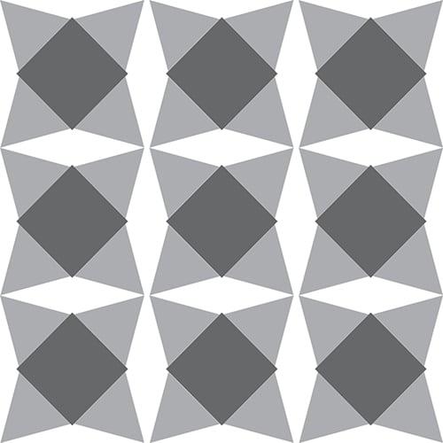 Sticker effet Carrelage Nereto gris