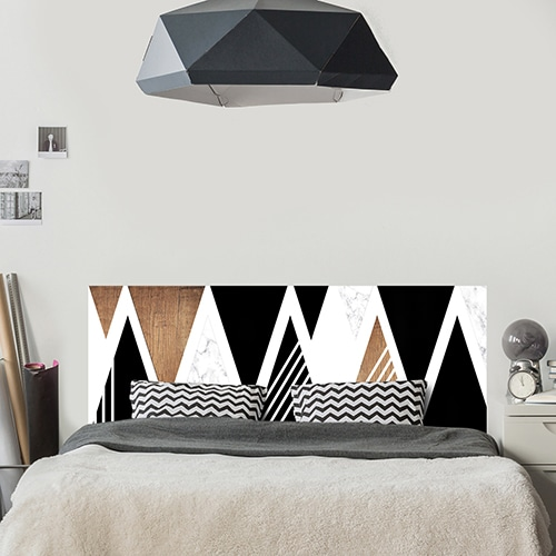 Sticker imitation Carrelage Scandinavie lampe design