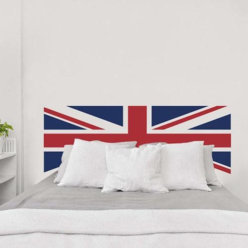 Adhésif pour tête de lit Drapeau Royaume-Uni rouge et bleu