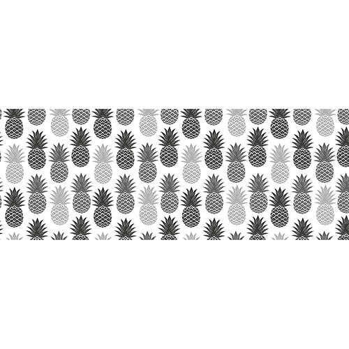 Sticker Ananas Noirs et Blancs pour tête de lit mis en ambiance, 4ème proposition