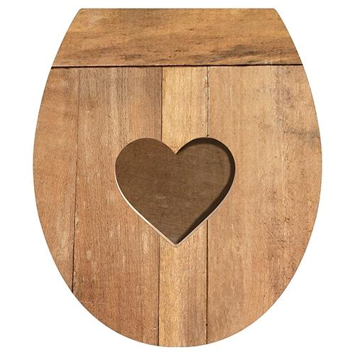 Optez pour l'authenticité avec nos stickers pour WC Coeur de Bois !