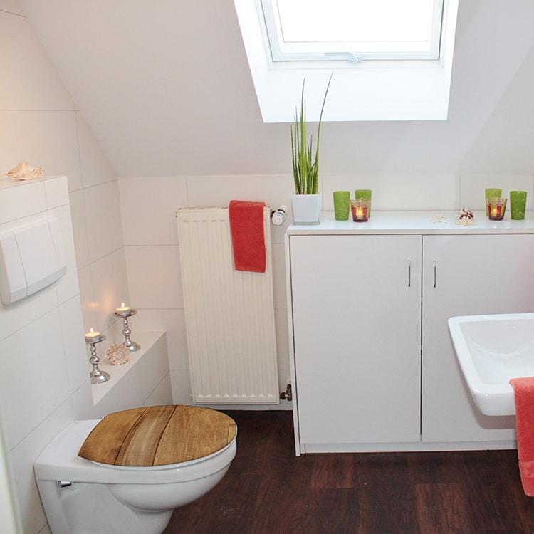 Sticker planche de bois pour WC