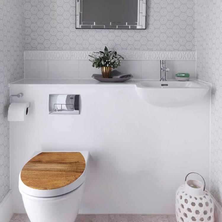 Sticker décoratif pour WC Planche de Bois