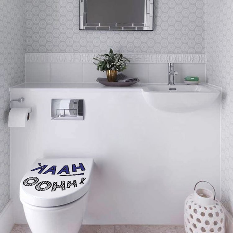 Sticker YAAAH Moderne pour décorer vos WC