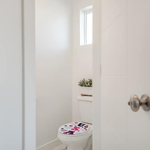 Sticker USA avec des coeurs pour abattant de toilette