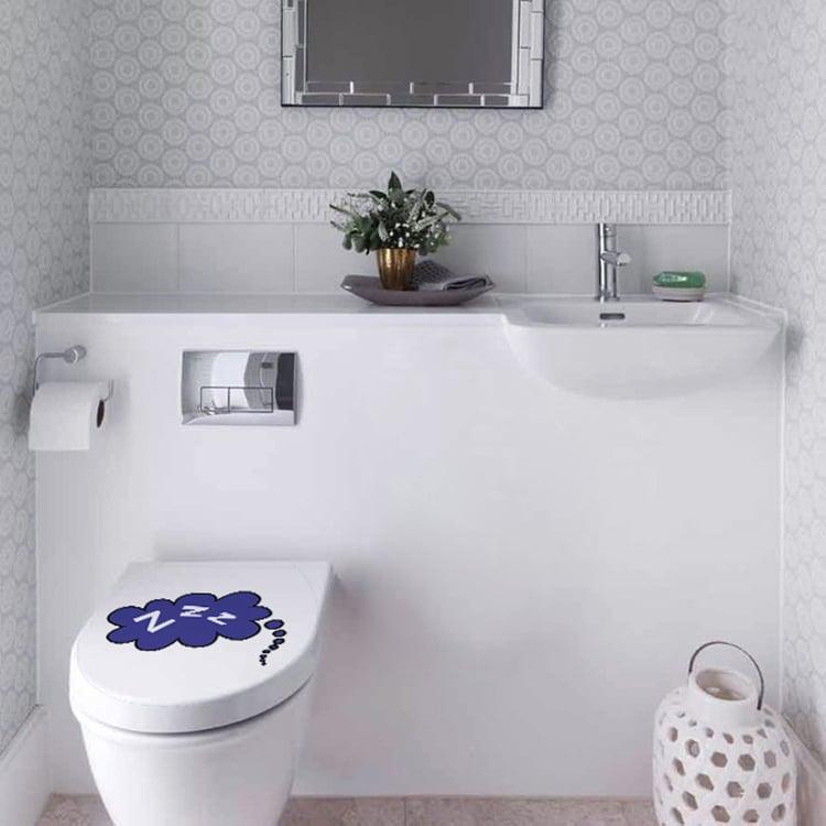 Sticker décoratif ZZZ pour WC