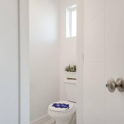 Autocollant ZZZ pour abattant de toilette violet