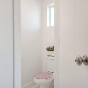 Sticker baroque rose pour abattant de toilette
