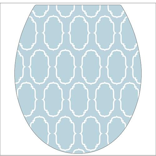 Sticker baroque bleu pour abattant de toilette