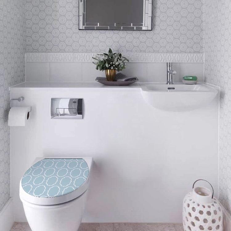 Stickers Baroque Bleu pour WC