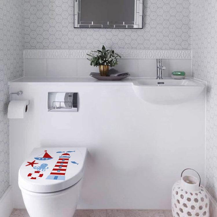 Sticker adhésif Océan pour un WC personnalisé