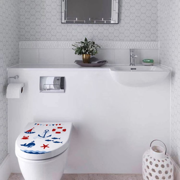 Sticker décoratif Mer pour un WC personnalisé