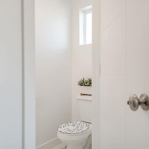 Sticker forme noir et blanc pour abattant de toilette