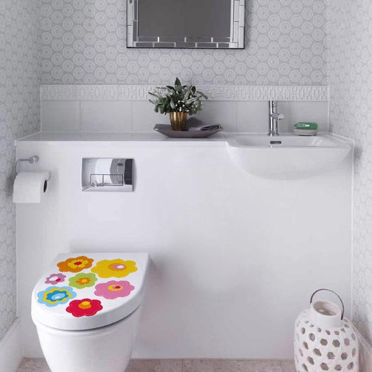 Sticker adhésif Fleurs pour décorer vos WC