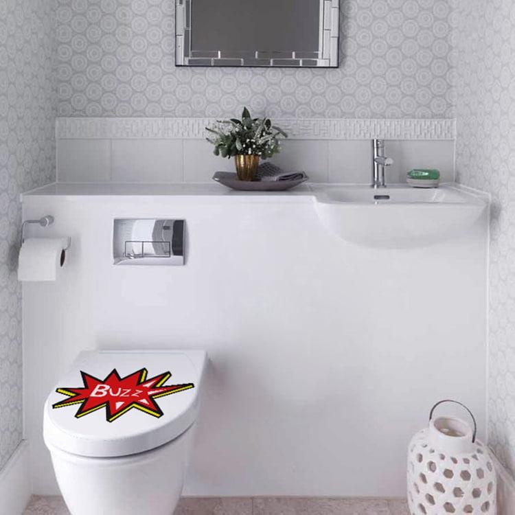 Sticker autocollant Buzz pour vos WC