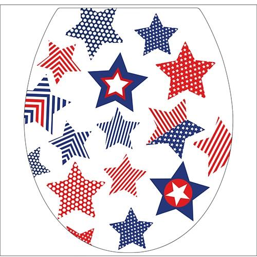 Sticker etoile USA pour abattant de toilette