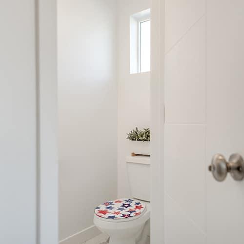 Sticker étoiles USA pour abattant de toilette