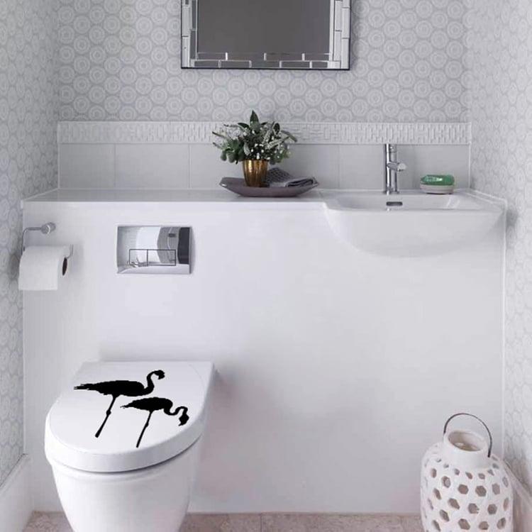 Sticker Flamants pour une déco unique sur vos WC