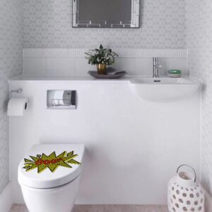 Sticker adhésif BOOM pour WC